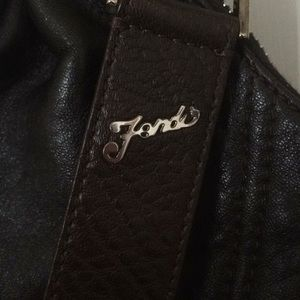 Original Fendi Brown Leather Satchel